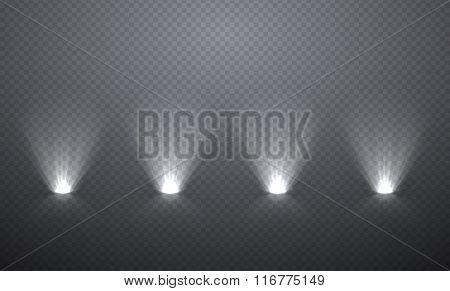Scene Illumination From Below, Transparent Effects On A Plaid Da