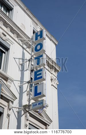 The Hotel Lightbox Signboard On The Wall