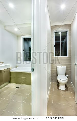 Toilet Bowl Isolated In A Modern House