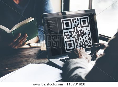 QR Code Encryption Interface Coding Concept