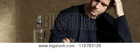 Man And Alcohol Dependence