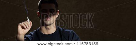 Man And Smoking Addiction
