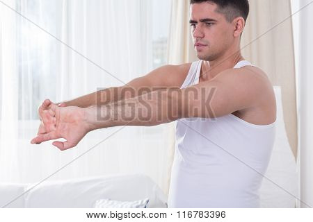 Man During Home Workout