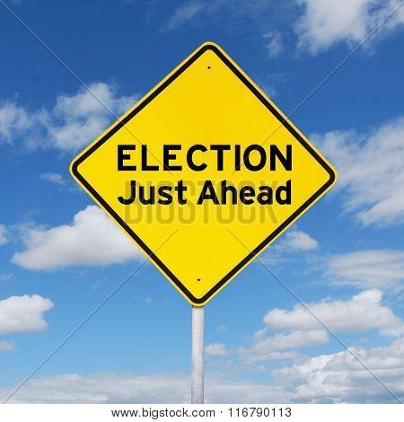Yellow Signboard Toward Election