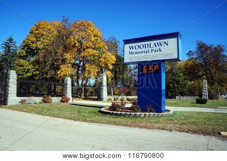 Entrance to the Woodlawn Memorial Park Cemetery