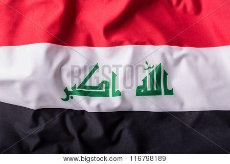 Iraq flag. Waving Iraq flag