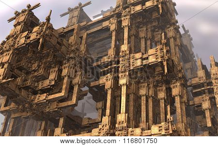 Deacayed architecture scenery