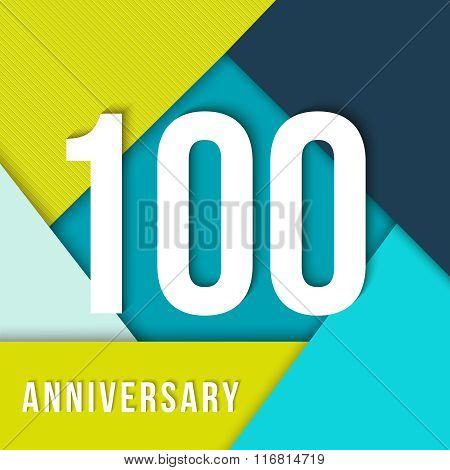 100 Year Anniversary Material Design Template