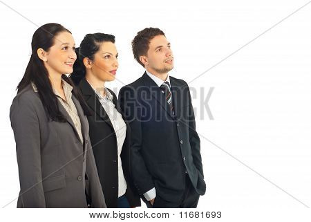 Group Of Business People Looking To The Future