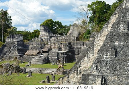 North Acropolis Structures in Tikal National Park And Archaeological Site, Guatem