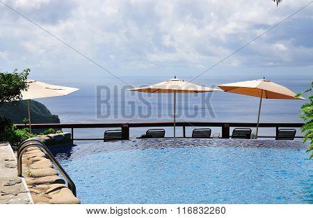 Pool And Umbrellas