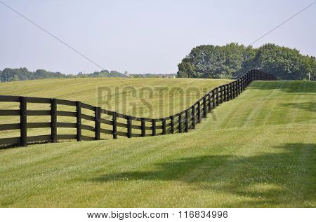 Brown country style rail fence