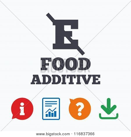 Food additive sign icon. Without E symbol.