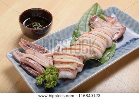 Ika yaki, Marinated cooked squid calamari