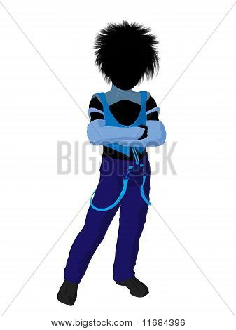 Punker Boy Silhouette Illustration