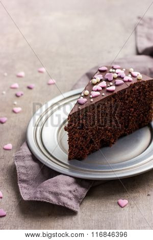 Chocolate Cake For Valentines Day