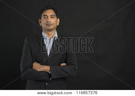 Indian Business Male With Black Background