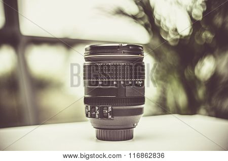 DSLR Camera with lens