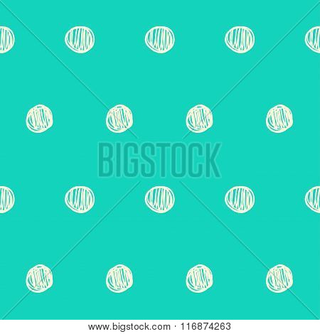 Hand Drawn Doodle Seamless Pattern Background. Abstract Geometric Handmade Shapes