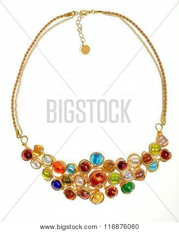 beautiful single necklace isolated on white background