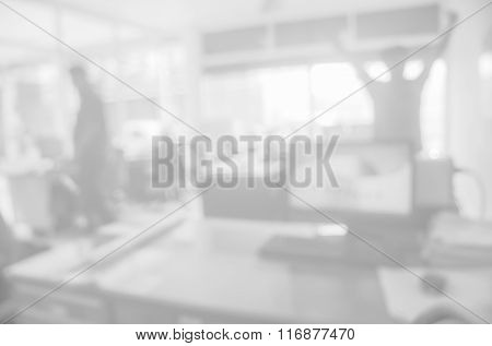 Businessmen blur in the workplace.Table Top And Blur Office of Background.abstract blur background t