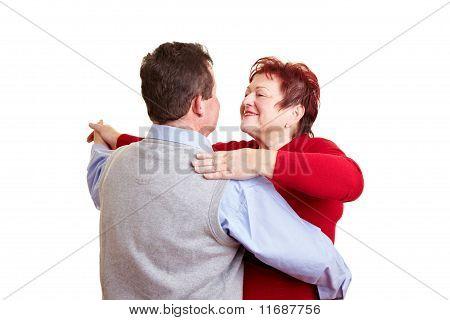 Elderly Couple Taking A Dancing Class