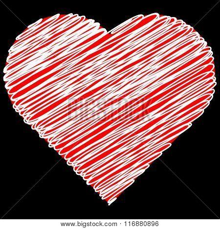 Vector illustration Heart icon.