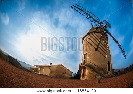 Mill of Moulin-A-Vent village, Beaujolais, France