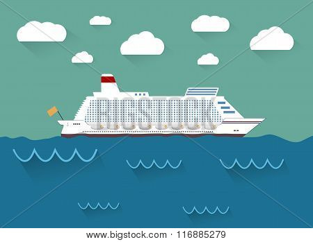The illustration of cruise ship