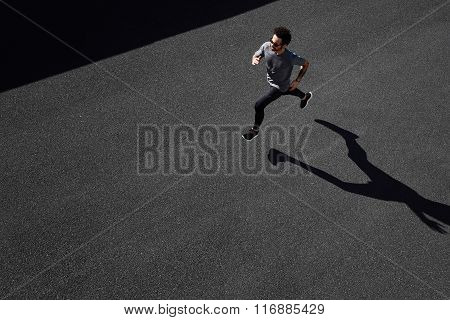 Man Running On Country Road, Healthy Inspirational Fitness Lifestyle, Sport Motivation Speed Interva