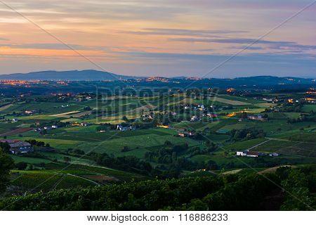 Morning Lights At Beaujolais Vineyards