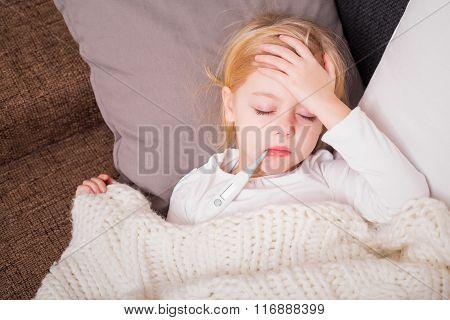 Little child having fewer