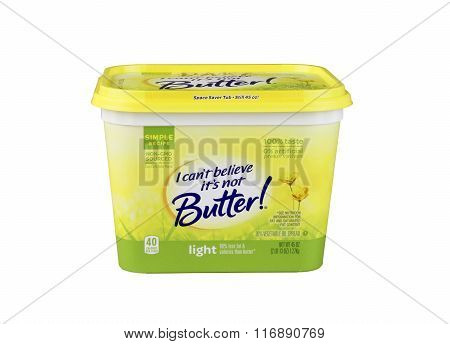 Tub Of I Can't Believe It's Not Butter Margarine