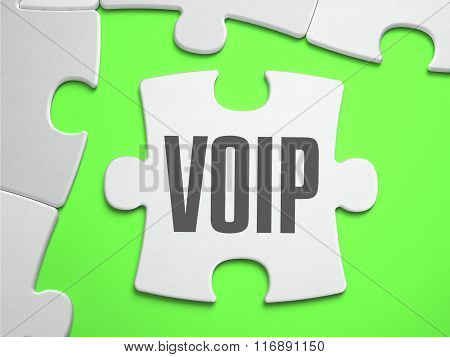 VoIP - Jigsaw Puzzle with Missing Pieces.
