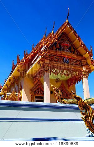 Kho Samui Bangkok In Thailand Dragon  Buddha Gold  Temple