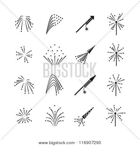 Firework explosion effects vector set