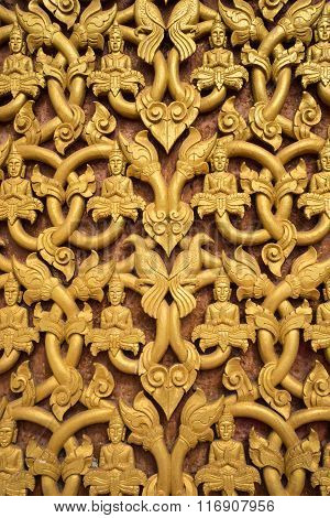 Traditional carving Lao art