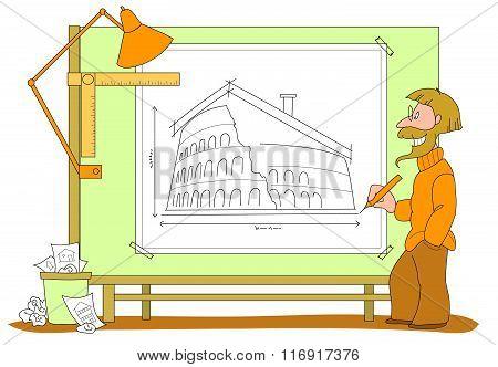 Architect plan vector