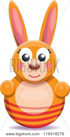 Roly-poly Cartoon Bunny