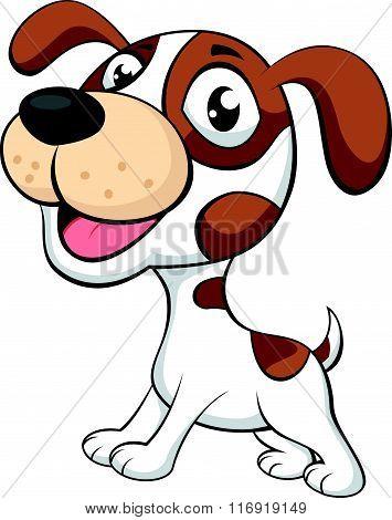 Cute dog cartoonCute dog cartoon isolated on white