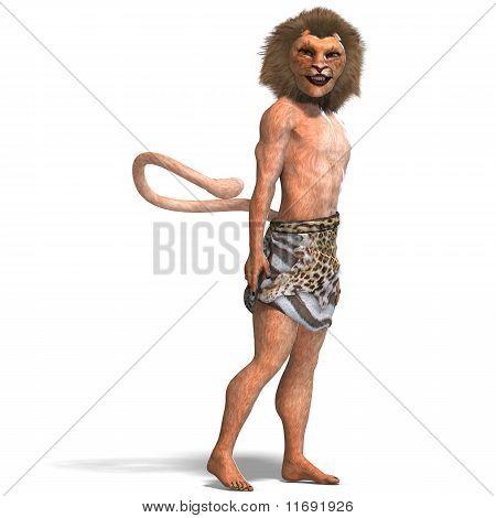 male manticore fantasy creature
