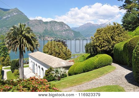 Villa Melzi in Bellagio town at the famous Italian lake Como poster