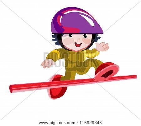 Jumps Over A Hurdle