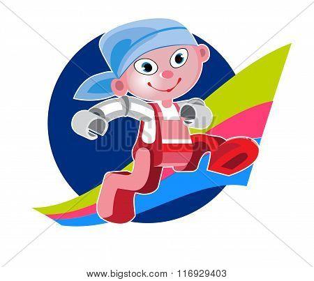 Cartoon Character Cute Robot