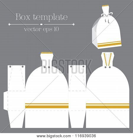 Vector Box Template. White Glad Rags.