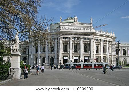 Vienna, Austria - April 22, 2010: The Burgtheater (imperial Court Theater) Is The Austrian National