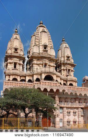 Delhi. One of the temple of the Hindu complex Chattarpur mandir