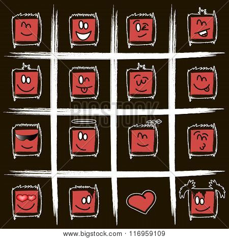 Positive Square Smilies