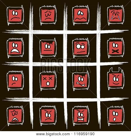 Negative Square Smilies