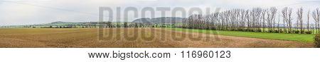 Panoramique Landscape At Kyffhaeuser Area In Thuringia